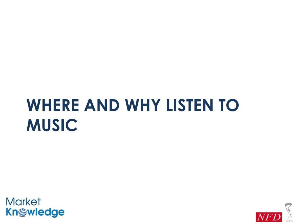 Where and why listen to music