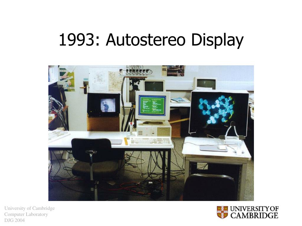 1993: Autostereo Display
