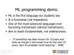 ml programming demo