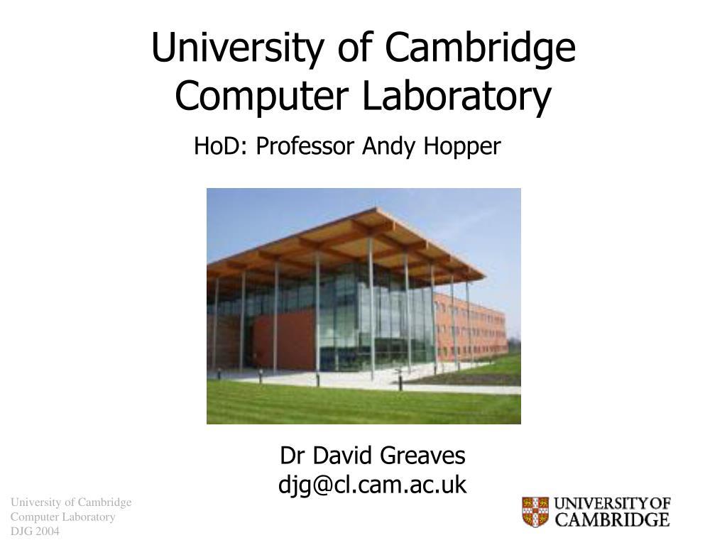 university of cambridge computer laboratory l.