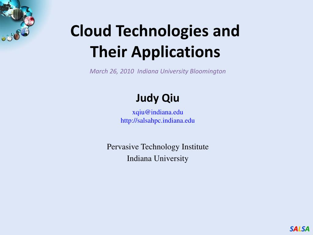 cloud technologies and their applications l.
