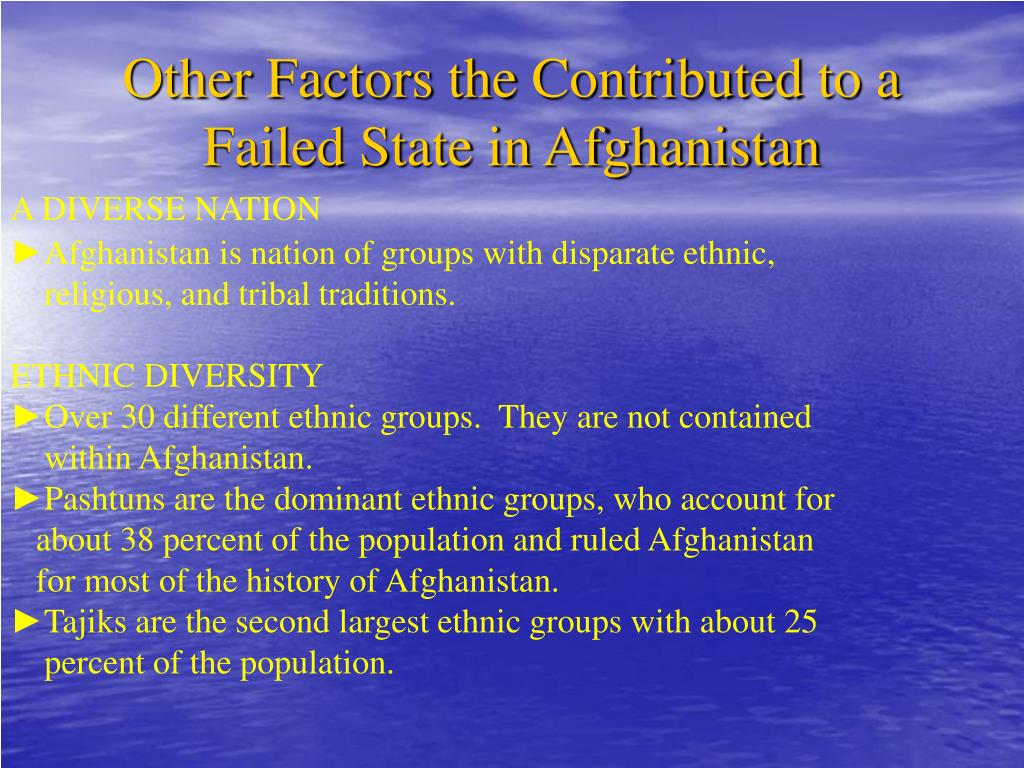 Other Factors the Contributed to a Failed State in Afghanistan