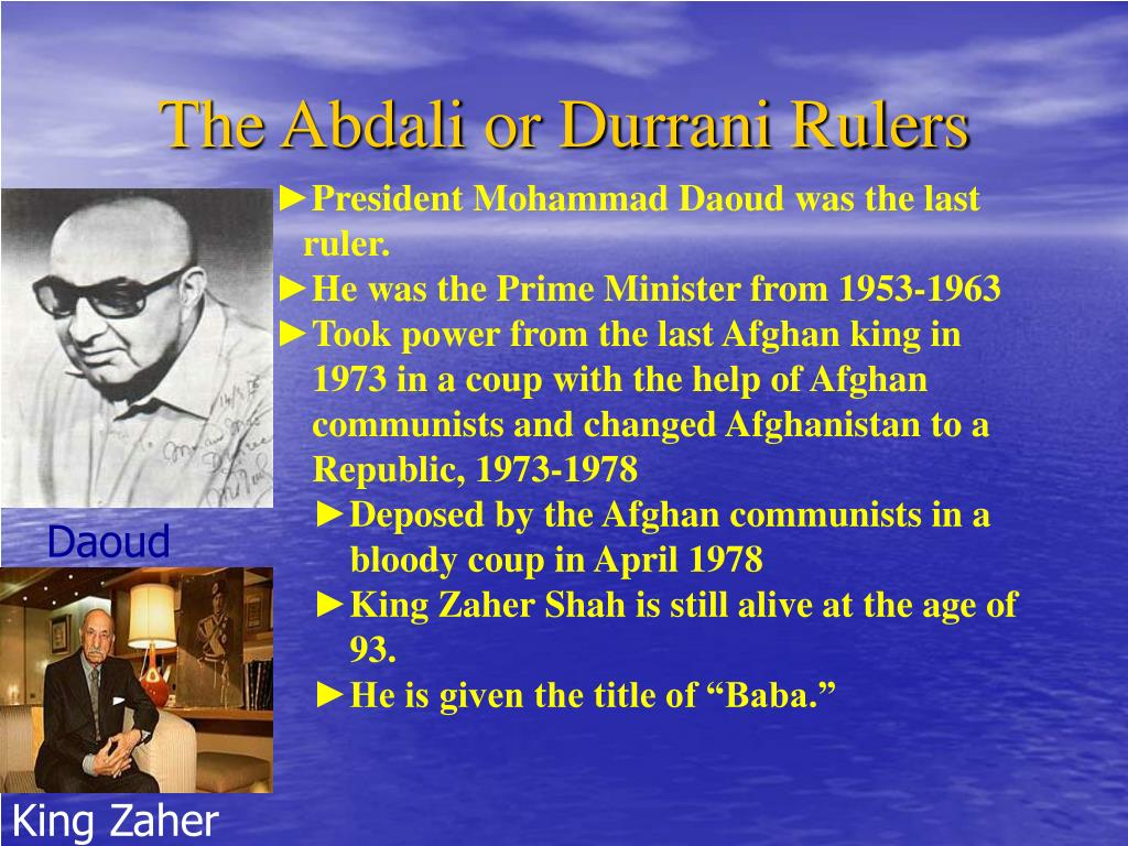 The Abdali or Durrani Rulers