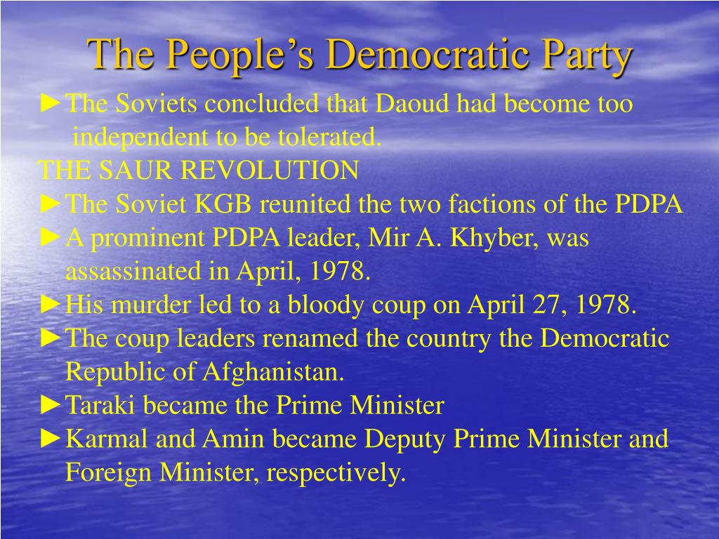 The People's Democratic Party