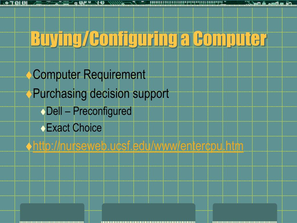 Buying/Configuring a Computer