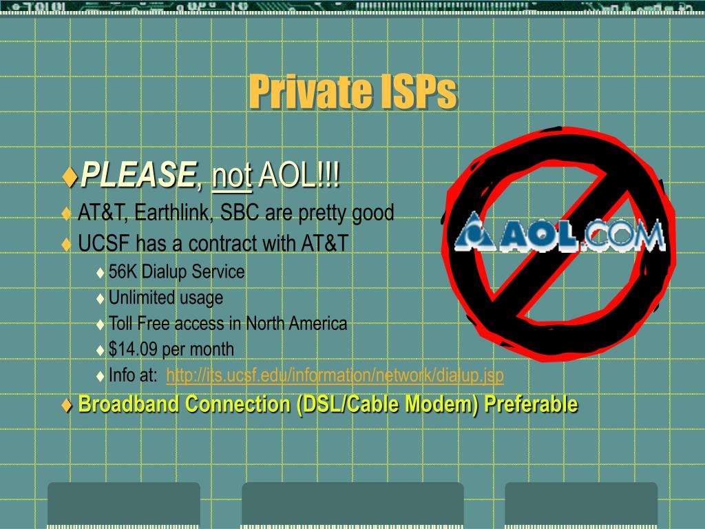 Private ISPs