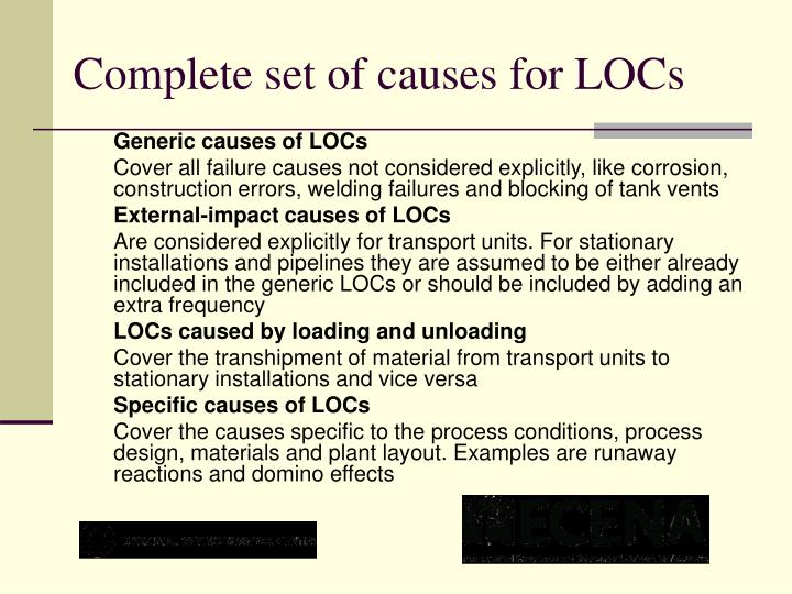 Complete set of causes for LOCs