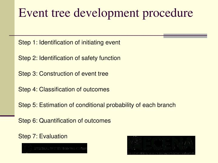 Event tree development procedure