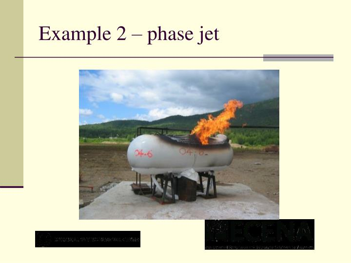 Example 2 – phase jet