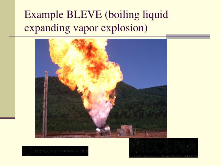 Example BLEVE (