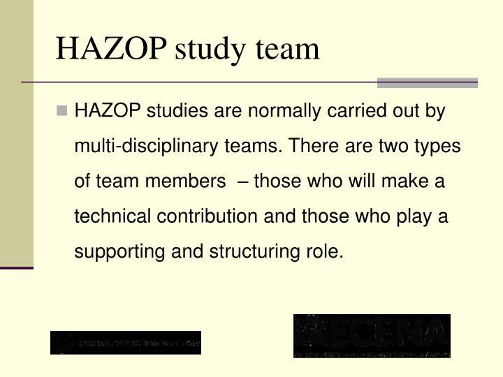 HAZOP study team