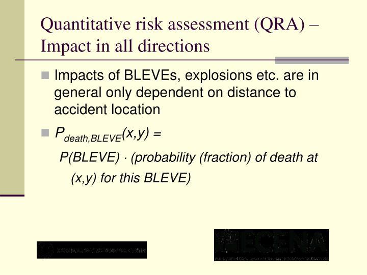 Quantitative risk assessment (QRA) – Impact in all directions