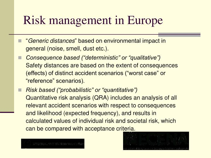 Risk management in Europe