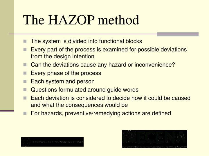 The HAZOP method