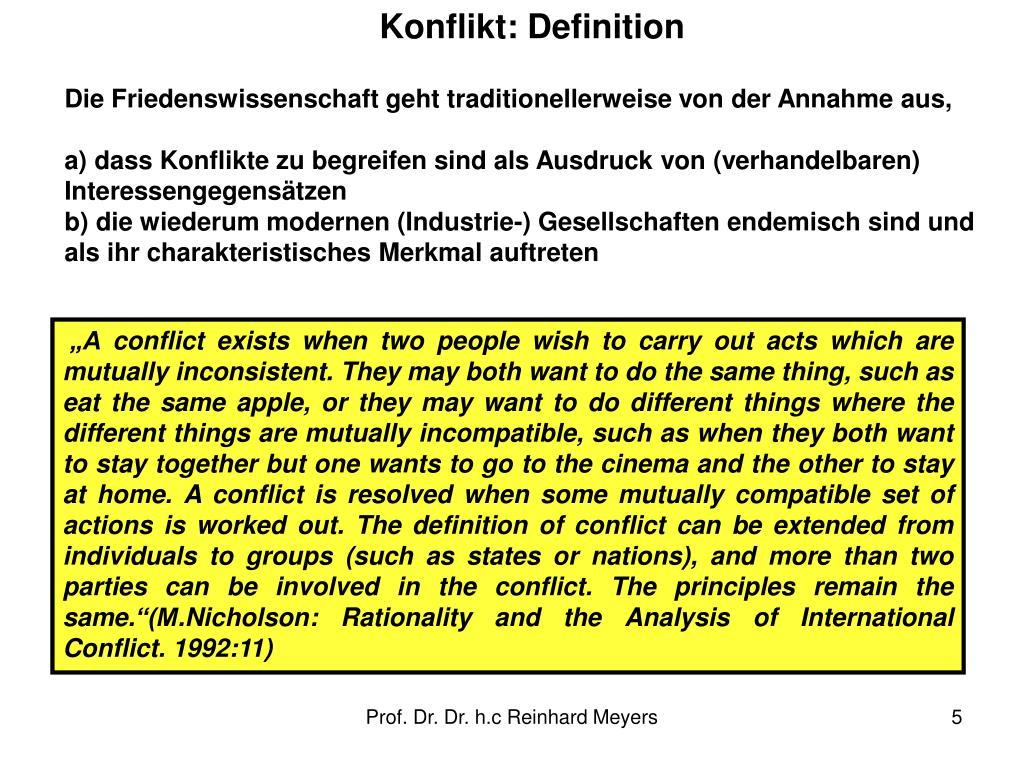 Konflikt: Definition
