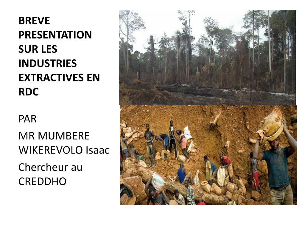 breve presentation sur les industries extractives en rdc l.