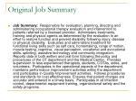 original job summary