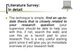 literature survey in detail63