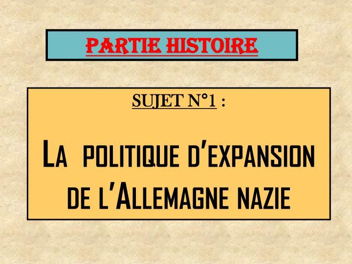 PARTIE HISTOIRE