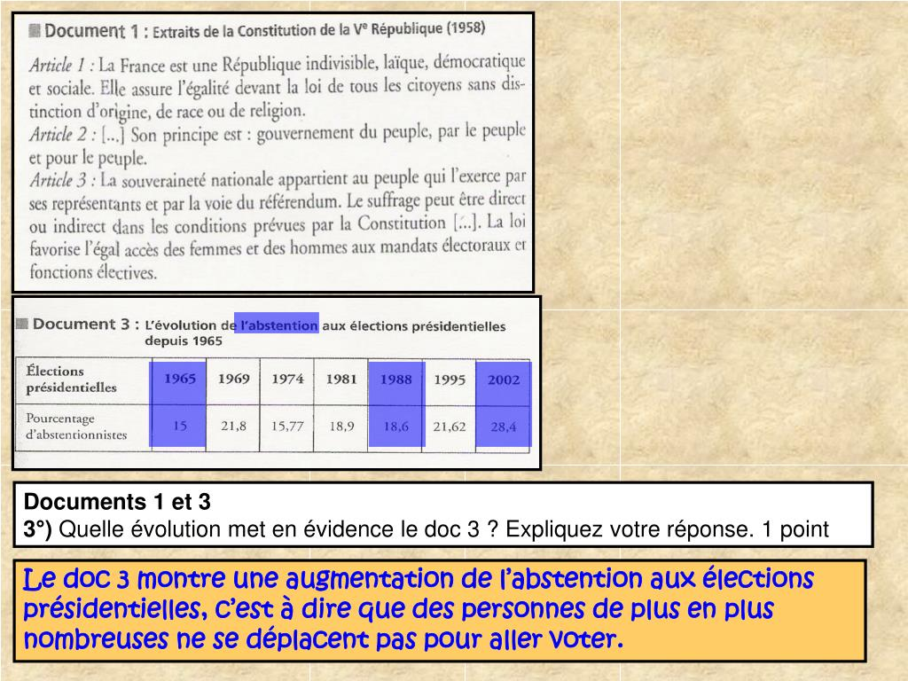 Documents 1 et 3