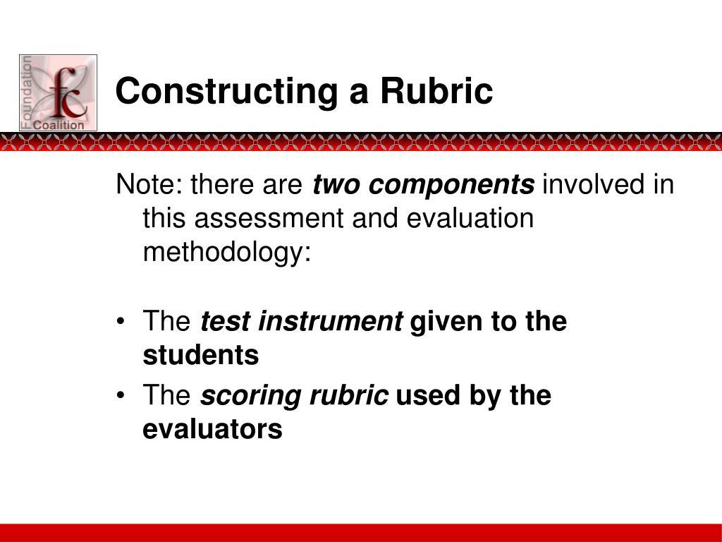 Constructing a Rubric