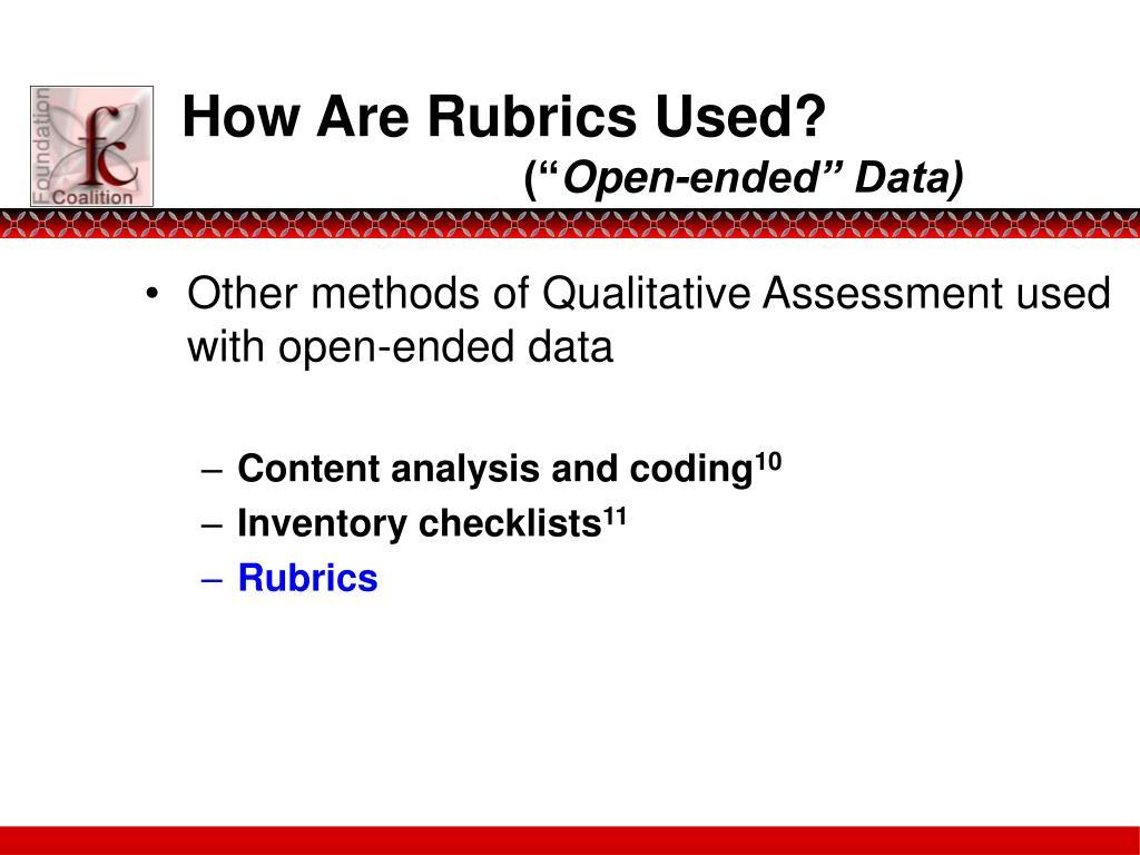 How Are Rubrics Used?