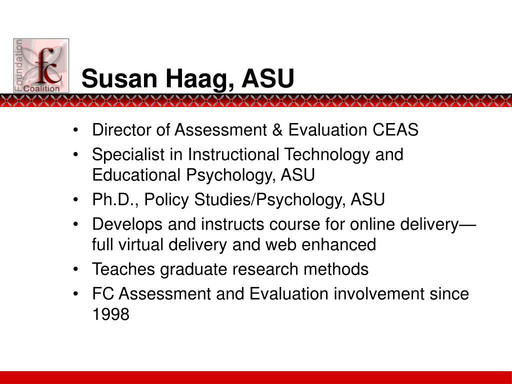 Susan Haag, ASU