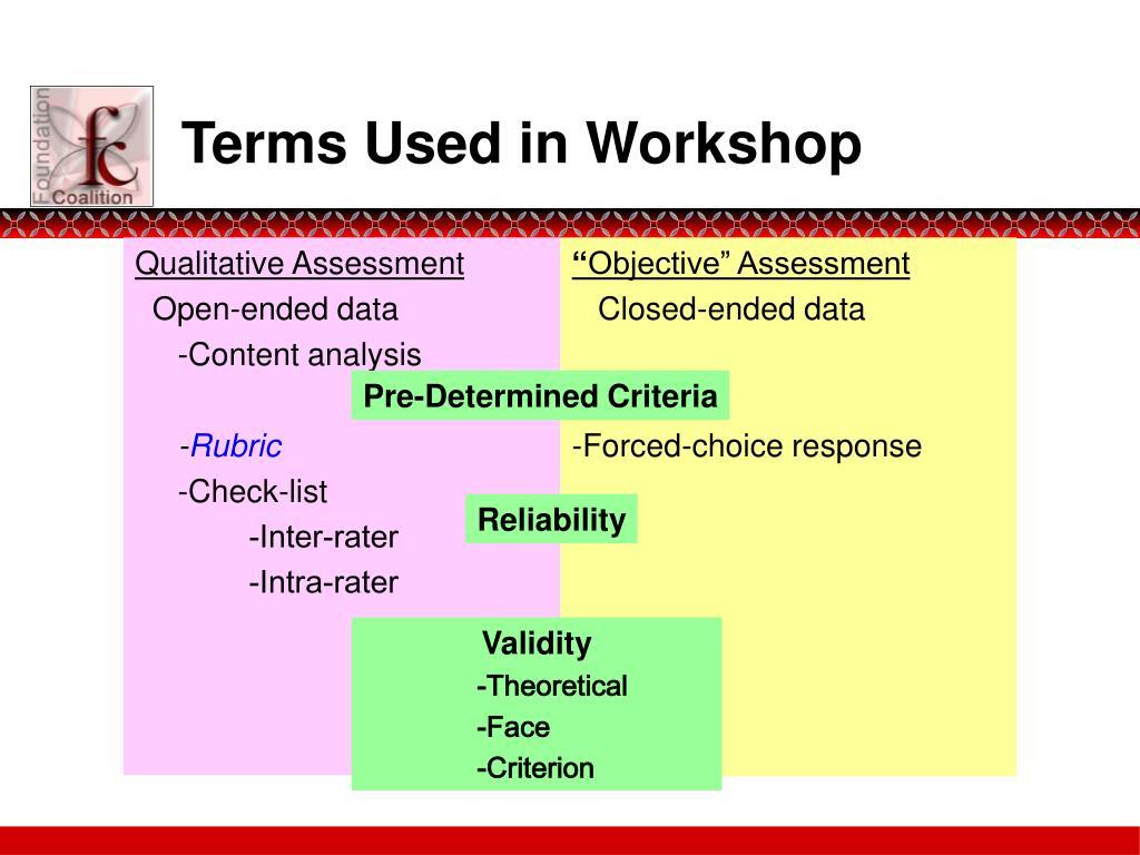 Qualitative Assessment