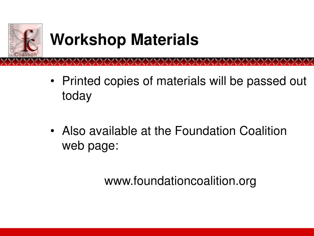 Workshop Materials