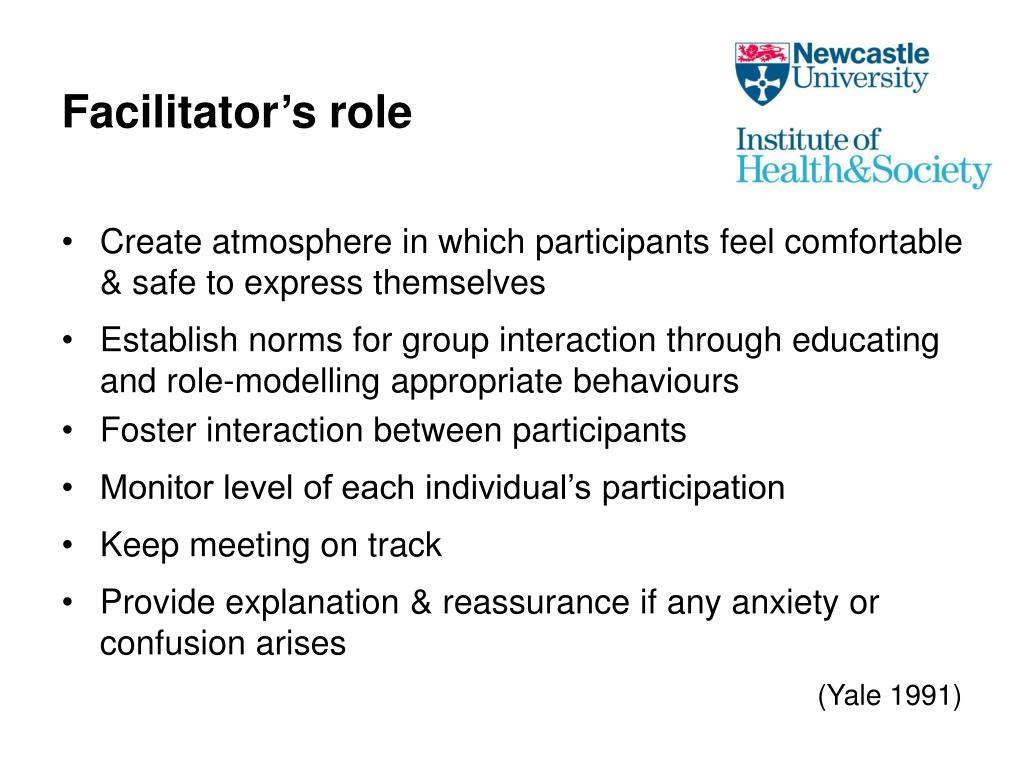 Facilitator's role
