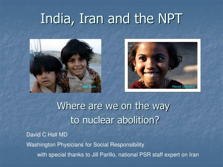 India iran and the npt
