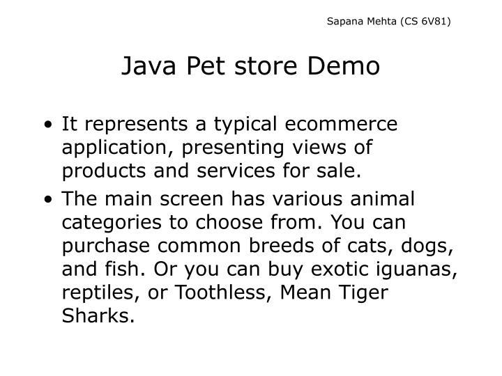 Java pet store demo