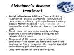 alzheimer s disease treatment