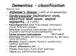 dementias classification based on cause
