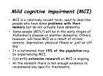 mild cognitive impairment mci