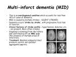 multi infarct dementia mid
