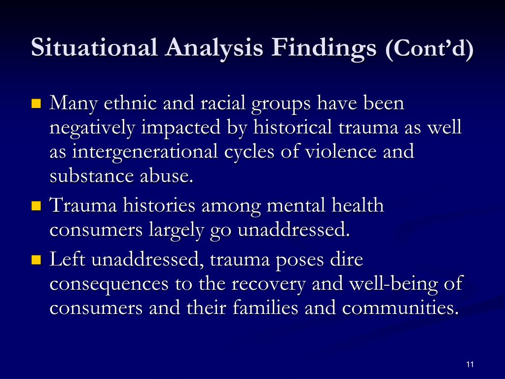Situational Analysis Findings