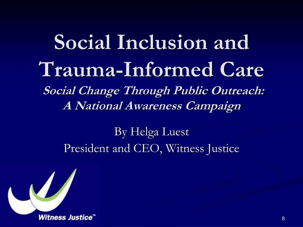 Social Inclusion and Trauma-Informed Care