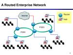 a routed enterprise network