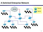 a switched enterprise network