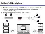 bridges lan switches