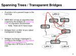 spanning trees transparent bridges