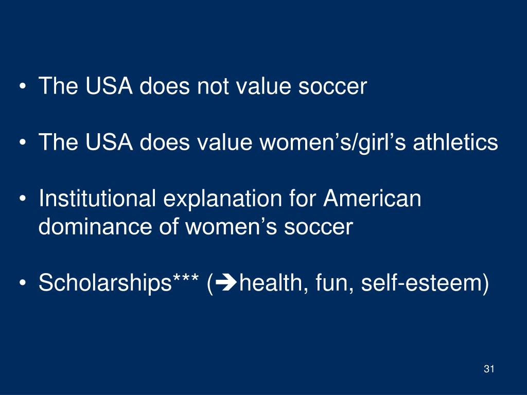 The USA does not value soccer