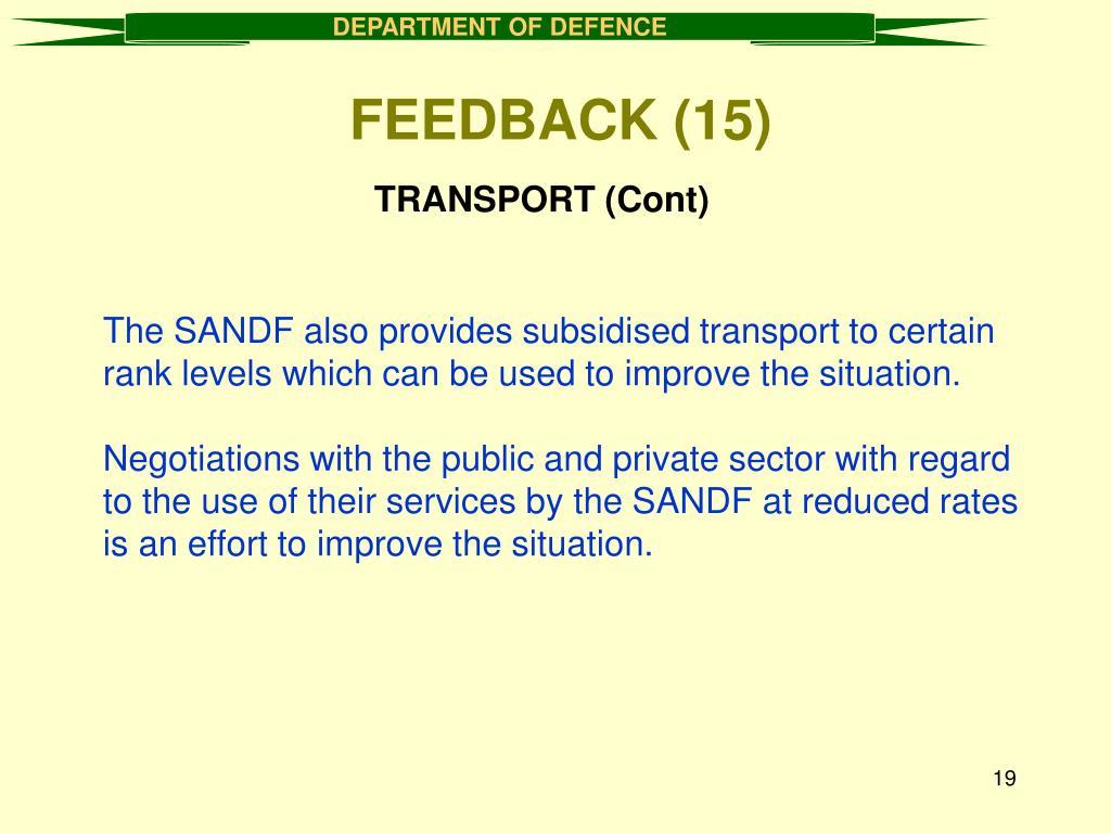 TRANSPORT (Cont)