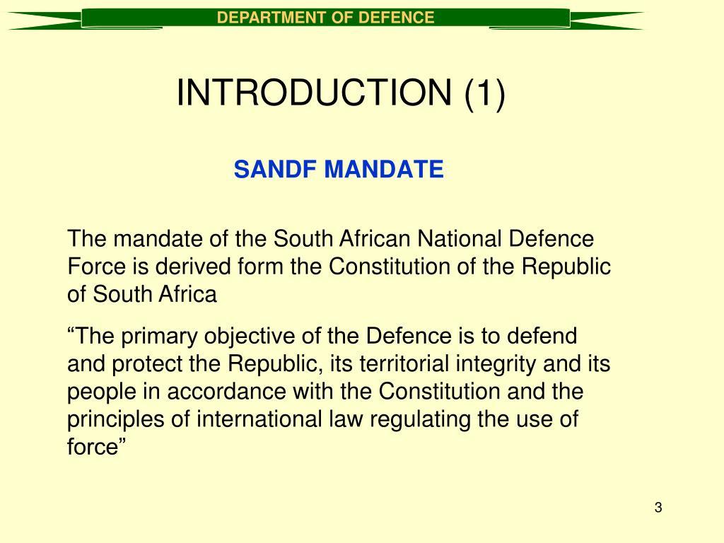 SANDF MANDATE
