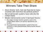 winners take their share