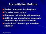 accreditation reform