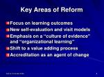 key areas of reform