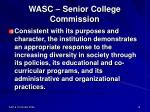 wasc senior college commission