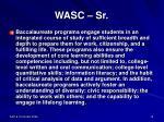 wasc sr